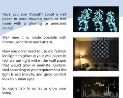 GLOW YOUR WALL PAPER flyer