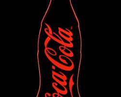Coke-edgelit-sign---0.25-in-Rich-Red